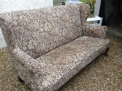 Antique ,vintage,high backed settee/sofa upholstery project