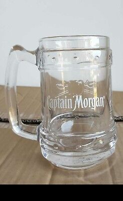3 Captain Morgan Rum Embossed Glass Tankards - Bundaberg