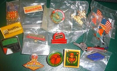 VINTAGE Home Depot Apron Pin Lot OF 16 -2000 OLYMPIC,STANDING UNITED,TITAN ++++