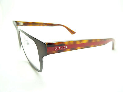 Gucci GG0007O Eyeglasses 55-16-145 Brown 004 GG 0007O,Spectacles,GLASSES,FRAMES