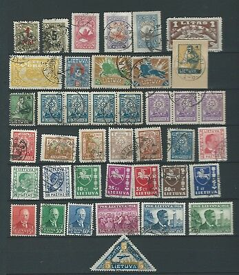 Russia Lithuania Nice Lot Early Used  Better Seen