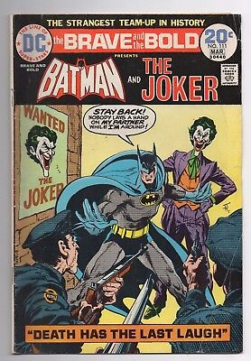 DC Comics The Brave and the Bold Presents Batman and The Joker #111 Bronze Age