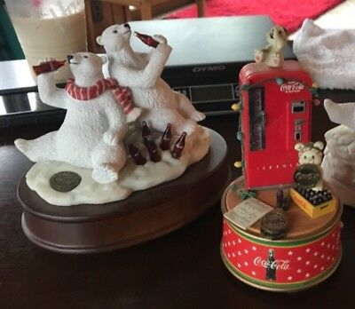 CHOOSE FROM 3 Coca Cola Christmas Windup Music Boxes Collectores Edition Coke