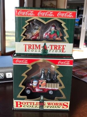 CHOOSE FROM 7 Coca Cola Christmas Ornaments In Boxes And Out Ceramic Coke Bear