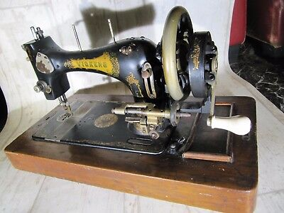 Vintage Hand Cranked Vickers Sewing Machine.