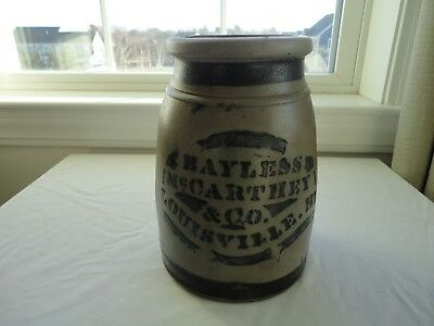 Rare Antique BAYLESS McCARTHEY & CO. LOUISVILLE, KY. Stoneware Wax Sealer Jar