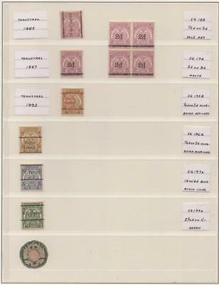 TRANSVAAL: 1885-1893 Examples - Ex-Old Time Collection - Album Page (11975)