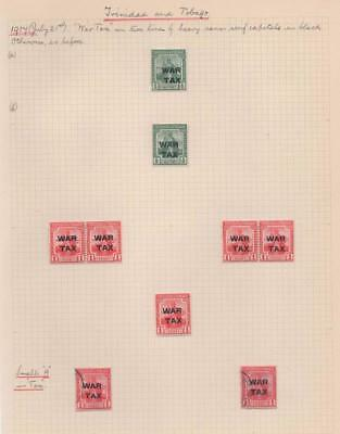 TRINIDAD & TOBAGO: 1917 War Tax Examples - Ex-Old Time Collection - Page (12532)