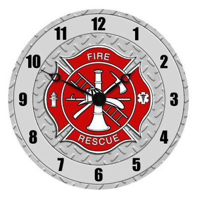 """Fire Department 13.5""""  Rescue Collectible Wall Clock"""