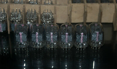 6 x IN-12 IN2 NIXIE TUBES EXCELLENT COND. NOS NEW USSR