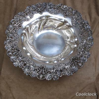 "Antique Howard & Co. New York Sterling Silver 12"" Presentation Bowl #AD440"
