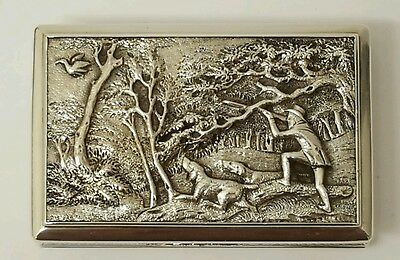 rare  very early victorian  antique solid silver snuff box  NATHANIEL MILLS 1838