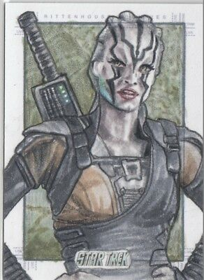 Star Trek Beyond Movie - Adam Cleveland (Jaylah) Sketch Card