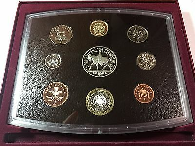 2002 United Kingdom Proof Set with Box and COA