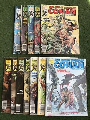 LOT OF 12 The Savage Sword of Conan The Barbarian #34 - #45 1978- 1979