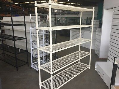 Mantova Wire Grid Shelving for Coolroom or Dry Store 1800Hx1800Lx450D 5 Tiers