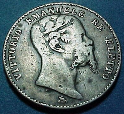 Italy Italian States - Tuscany-2ND Provisional Government - 2 (DUE) Lira -Silver