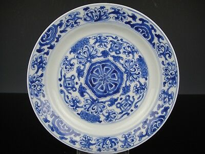 Beautiful Chinese Porcelain Plate With Flowers.18th C.Chenghua Marked.Quality!