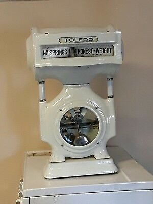 Vintage White Porcelain Toledo Grocery Meat Scale