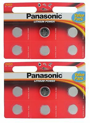 12 x Panasonic CR2025 Lithium Coin Cell 3V Battery Car Key Fobs Toys Remote New