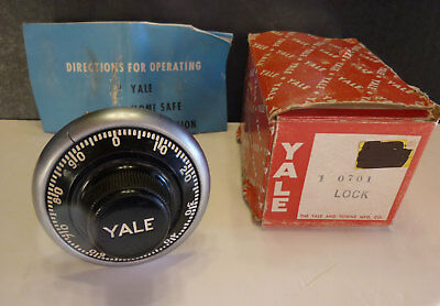 YALE replacement combination safe lock, new old stock, made in USA, #0701, NOS
