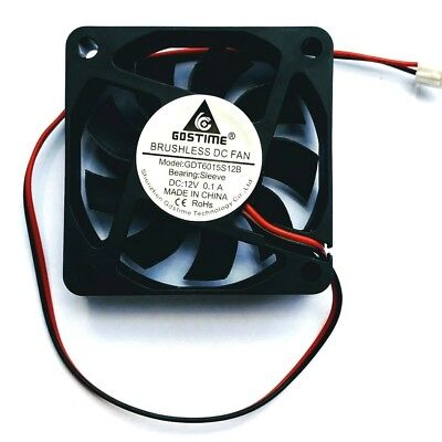 Case Fan 12V 60mm x 60mm x 15mm Brushless PC Fan cooler 2 pin GDT- Aussie Seller