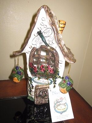 BlueSky ClayWorks By Heather Goldminc Cottage/House Ceramic 9' High Tag Attached