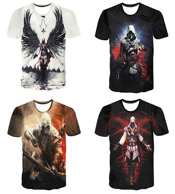 NEW 3D Print T-Shirt Movie Assassins Creed PC Video Game Fashion Casual  Unisex