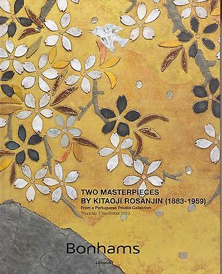 Japanese Art: Two Masterpieces By Kitaoji Rosanjin: 1883-1959 Auction Catalogue