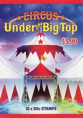 2007 AUSTRALIAN STAMP BOOKLET CIRCUS UNDER THE BIG TOP 10 x 50c STAMPS MUH