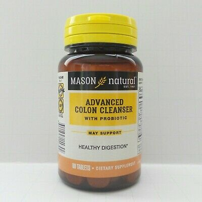 90 Tablets Advanced Colon Cleanser With Probiotic Healthy Colon Function Herbal