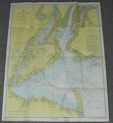 New York City Harbor NYC Vintage Original C&GS Sailing Map Nautical Chart #369