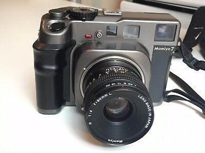 Mamiya 7 medium format rangefinder camera with 80mm f4 lens