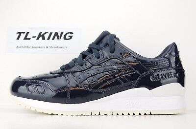pick up 2ea47 6f3a7 ASICS GEL LYTE III 3 Patent Leather India Ink Date Night Navy H7H1L 5858  $110 HA