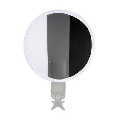 "12""/30cm Gray Card White Balance Card Board Round Flash Diffuser Softbox LF785"