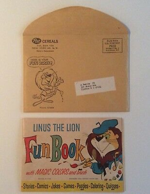 1964 LINUS THE LION FUN BOOK (POST) with Envelope