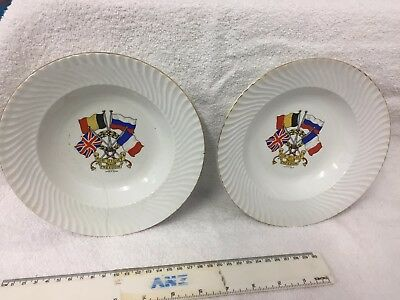 "WW1 - """"For Right and Freedom"""" Plates"