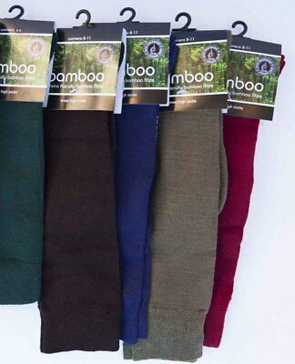 Bamboo Knee High Socks Thin Natural ANTIBACTERIAL Olive No Smelly Feet Size 6-8