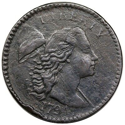 1794 Liberty Cap Large Cent, Head of '94, S-43, XF detail