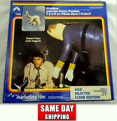 Airplane Super 8  1980 Marketing Film Reel Extremely Rare 400  Selected  Scene