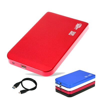 USB3.0 1TB External Hard Drives Portable Alloy Desktop Mobile Hard Disk Case