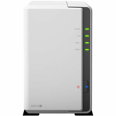 Synology DS218J 2 Bay NAS Dual Core 1.3GHz 0TB 512MB Network Storage Home Server