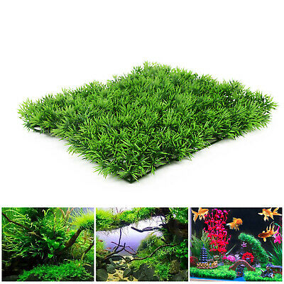5X Artificial Water Aquatic Green Grass Fish Tank Plant Lawn Aquarium Landscape