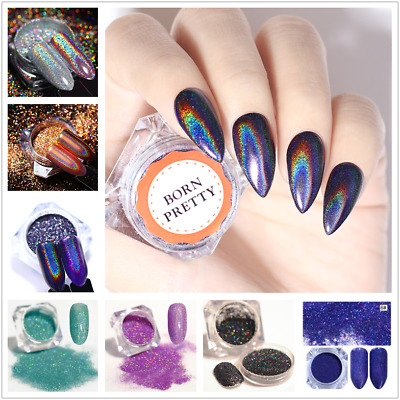 BORN PRETTY Holographic Nail Art Glitter Powder Dust Shiny Pigment Manicure Tool