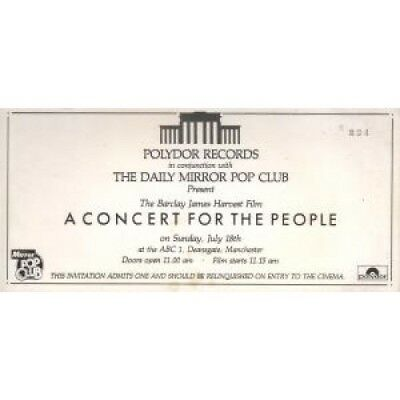 "BARCLAY JAMES HARVEST A Concert For The People FLYER UK Polydor 4""X8"""