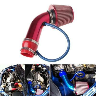 Alumimum 3'' 75mm Car SUV Red Cold Induction Air Intake Pipe Kit + Air Filter