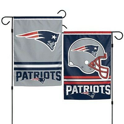 "New England Patriots Double Sided Garden Flag 12""x18"" Yard Banner Outdoor Rated"