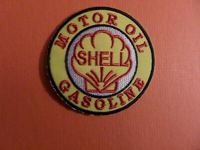 SHELL MOTOR OIL YELLOW & RED   Embroidered 2-3/4 x 2-3/4 Iron On PATCH