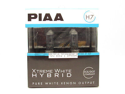 PIAA H7 Xtreme White Hybrid Headlight Halogen Light Bulbs Twin Pack 3900K DOT