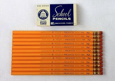 12 Vintage Eberhard Faber Princess 1396 No.2 School Pencils